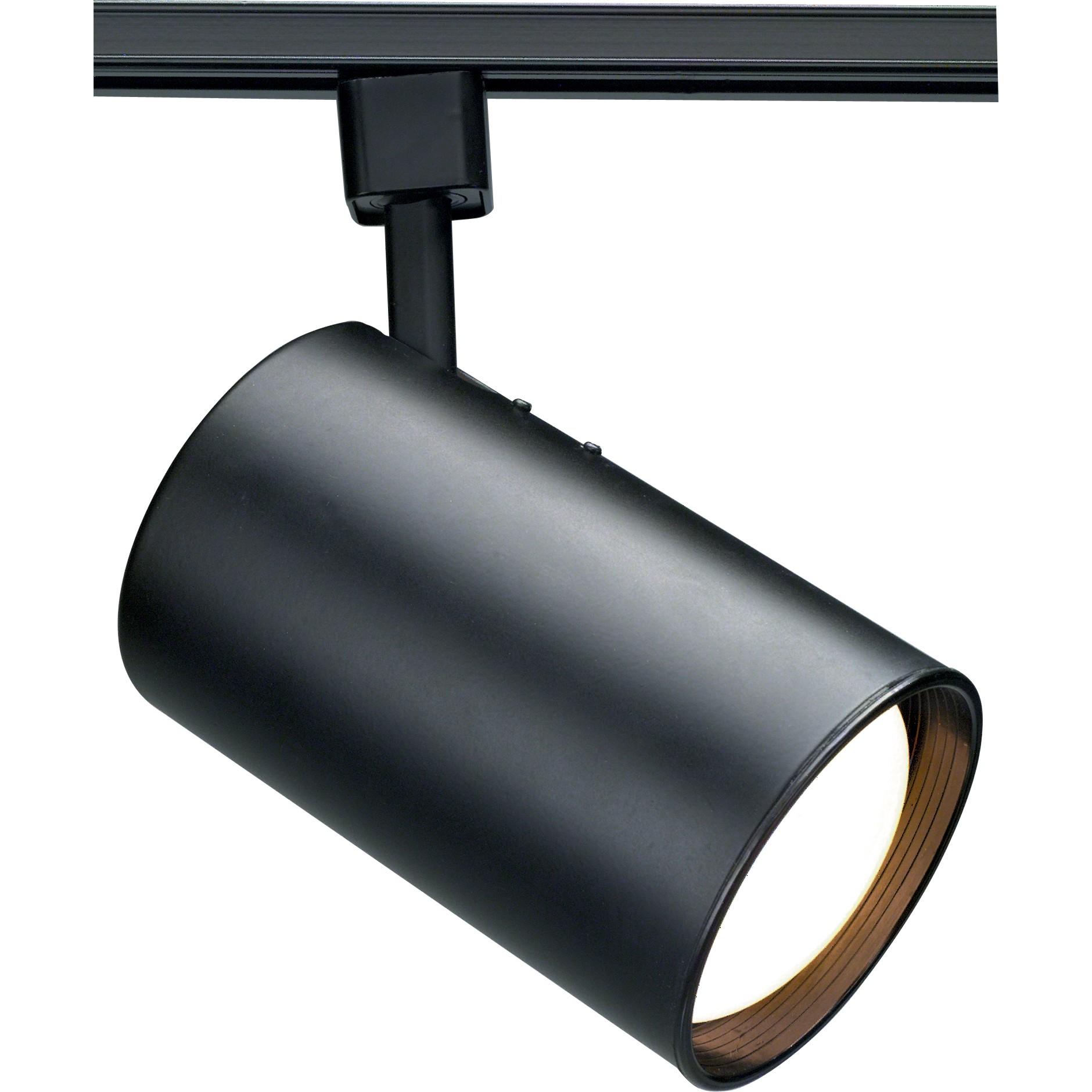 Satco Nuvo 50w Max R20 Par20 Straight Cylinder Track Head Black Finish Smart Led