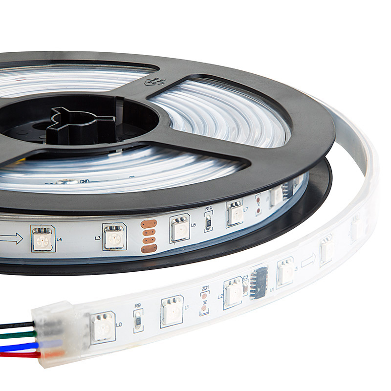 Outdoor 12 Volt 60leds Meter Led Strip Smd 5050 Rgb: 12V 14.4W 5050 RGB IP67 Strip Lighting 16.5FT/5Meters
